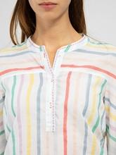 Image sur Bluse mit Streifen und Ziernähten