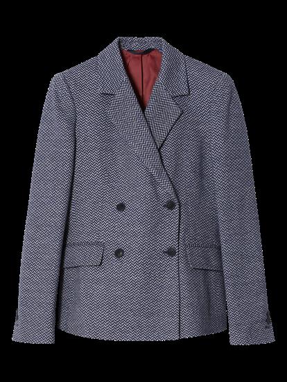 Image sur Blazer en jersey motif à chevrons