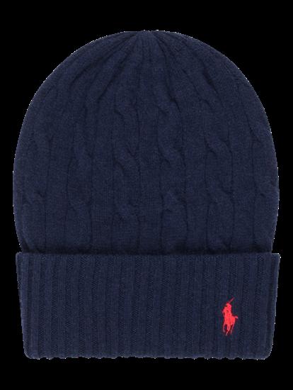 Image sur Bonnet avec motif tressé et logo