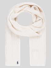 Bild von Schal mit Zopfmuster