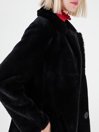 Image sur Manteau en peau d'agneau réversible