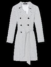 Image sur Trench jersey imprimé