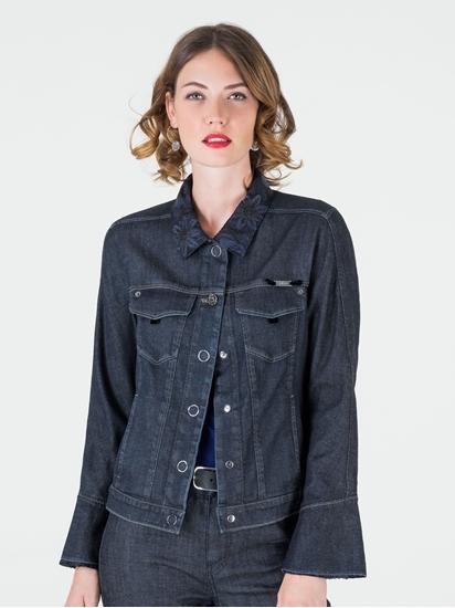 shop online PKZ.ch. women jacken jeans Jeansjacke mit Stickerei am ... a5b724883e