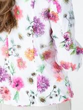 Bild von Jacke mit Blumen-Print und Tunnelzug