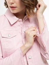 Image sur Veste jean à franges