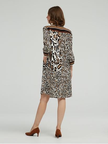 Image sur Robe imprimé léopard et noeud