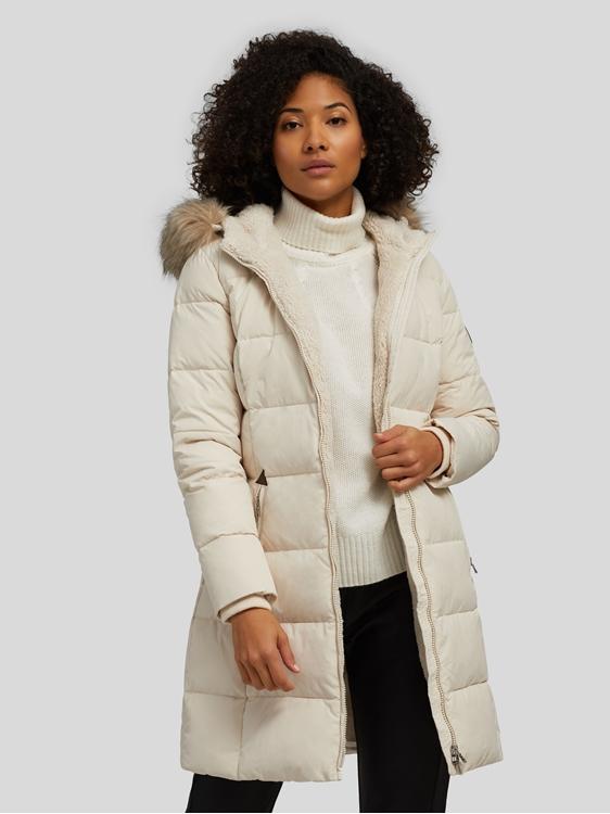 Image sur Manteau duvet avec fourrure
