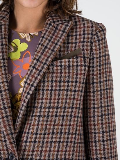 Image sur Blazer avec motif à carreaux
