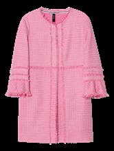 Bild von Mantel aus Tweed mit Fransen