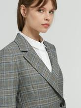 Image sur Blazer motif à carreaux