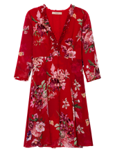Image sur Robe imprimé fleuri et volants