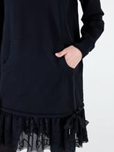 Bild von Sweatkleid mit Spitze am Saum