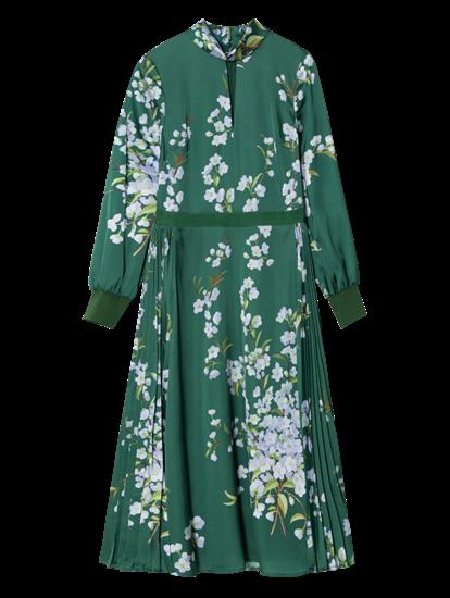 Bild von Kleid mit Blumen-Print und Plissee