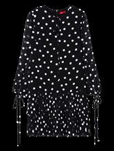 Bild von Kleid mit Punkten und Plissee