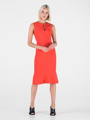 60d4f1f472c6 Akris Punto. Jersey Kleid mit Schlüsselloch-Ausschnitt
