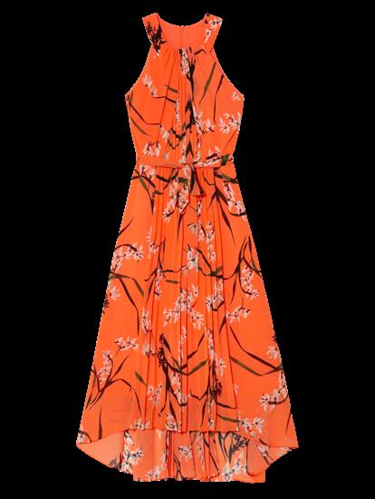 Bild von Kleid mit Blumen-Print und Plissee-Falten