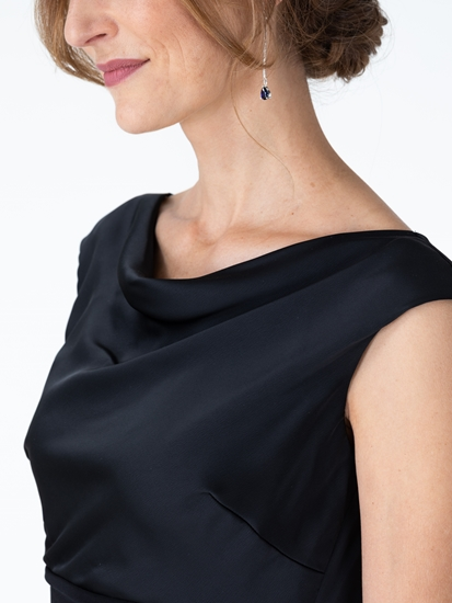 Bild von Kleid aus Material-Mix