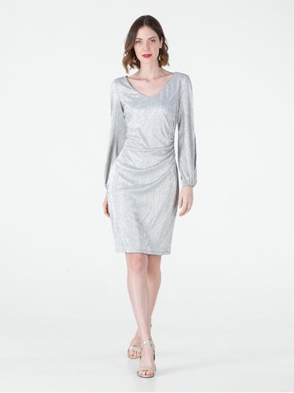 Bild von Kleid aus Lurex mit offenen Ärmeln