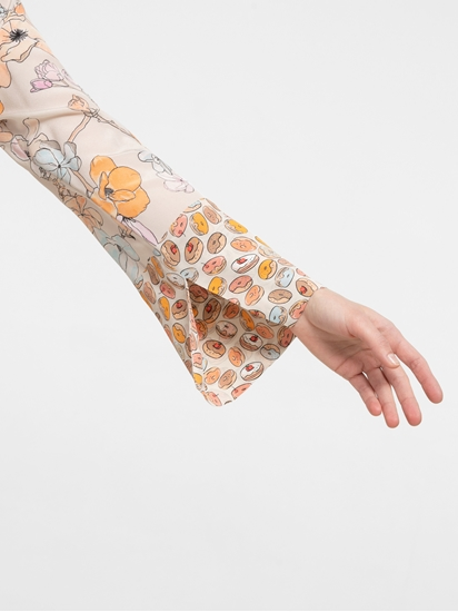 Image sur Robe en soie imprimée