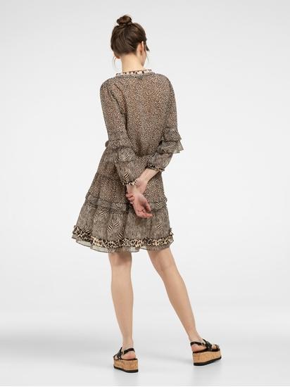 Bild von Kleid mit Leo-Print und Volants