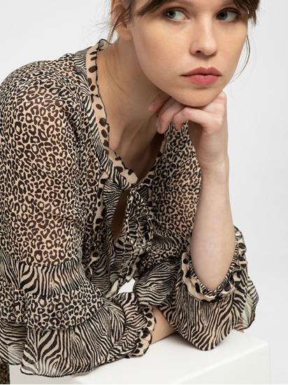 Image sur Robe imprimé léopard et volants