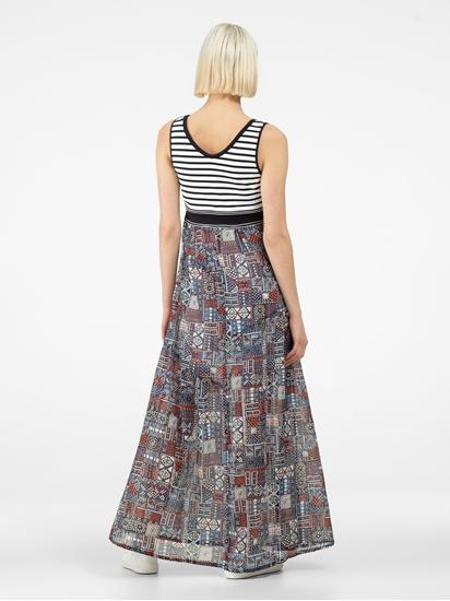Bild von Kleid mit Streifen und Print