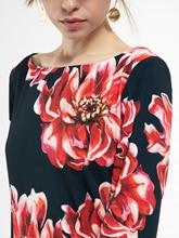 Bild von Kleid mit Blumen-Print und Schleife am Ärmel