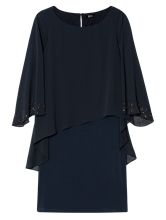 Bild von Kleid aus Material-Mix mit Strasssteinen