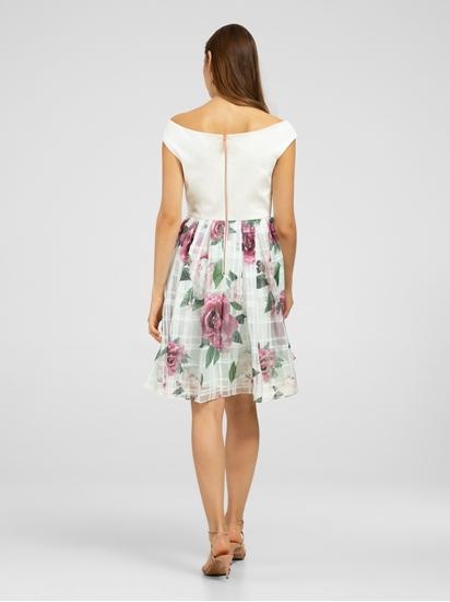 Bild von Kleid aus Material-Mix mit Print