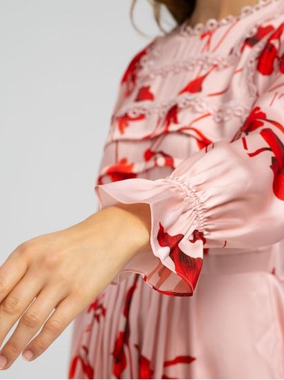 Image sur Robe imprimé floral et dentelles