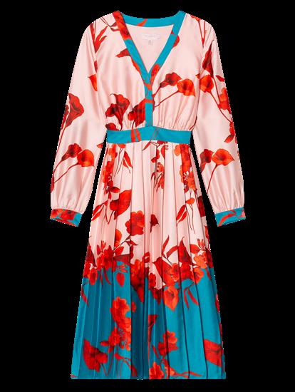 Image sur Robe imprimé fleuri et plissé