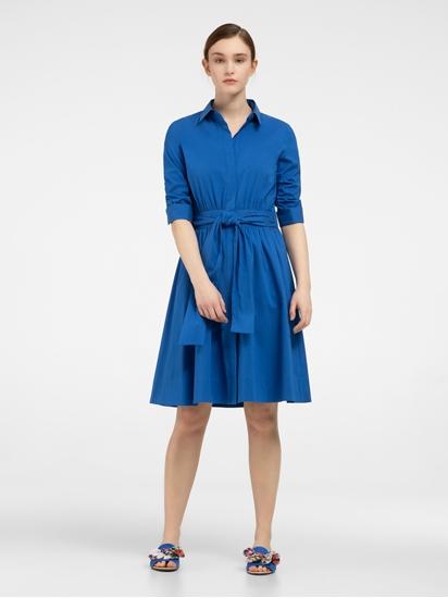 Bild von Blusenkleid mit Schleife und Aufschlag am Ärmel