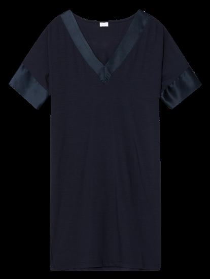 Bild von Langes Shirt mit Satineinsatz
