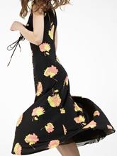 Bild von Jerseykleid mit Raffung und Print