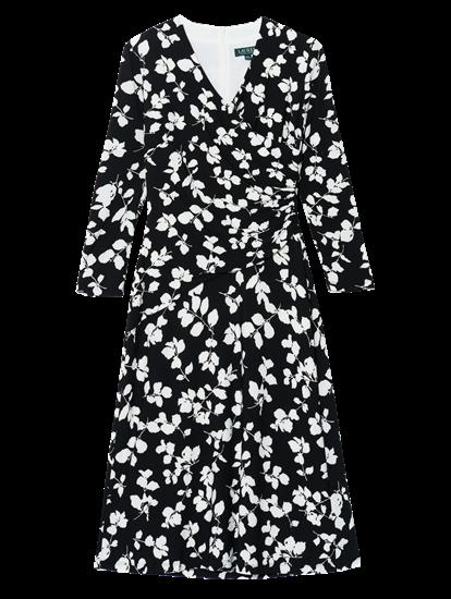 Bild von Kleid in Wickel-Optik mit Blumen-Print