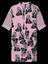 Image sur Robe chemisier oversize avec imprimé et rayures