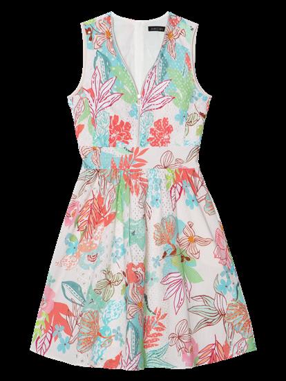 Bild von Kleid mit Blumen-Print und Struktur