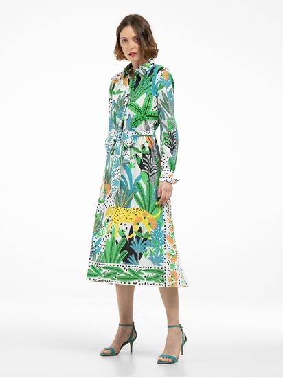Bild von Blusenkleid mit Print