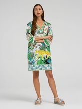 Bild von Tunika Kleid mit Print und Applikationen