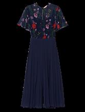 Image sur Overall imprimé floral et plissé