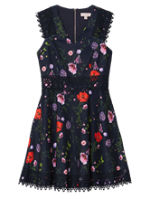 Image sur Robe imprimé floral et dentelle