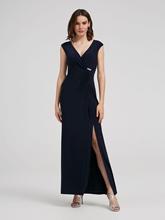 Bild von Kleid in Wickel-Optik mit Strasssteinen
