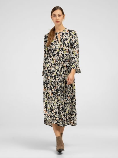 Bild von Kleid mit Volant und Print