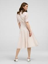 Bild von Blusenkleid mit Bindegürtel und Streifen
