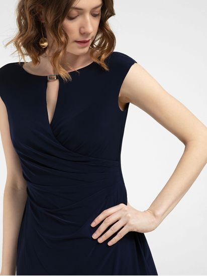 Bild von Jersey Kleid in Wickel-Optik