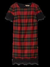 Bild von Kleid mit Karo und Spitze