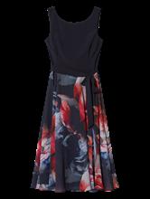 Image sur Robe mélange de matières et imprimé floral