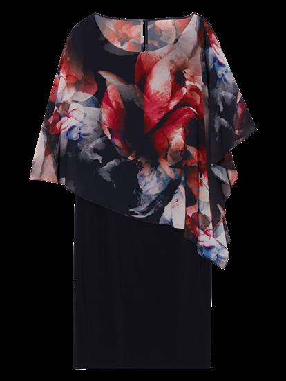 Image sur Robe imprimée avec mélange de matières