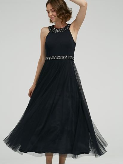 Bild von Abendkleid mit Strasssteinen