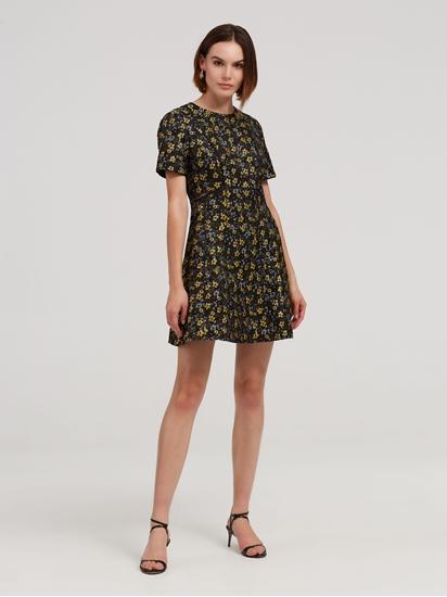 Bild von Kleid aus Brokat mit Blumenmuster